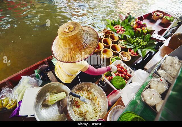 Cuisine on the boat -  Bangkok, Thailand - Stock Image