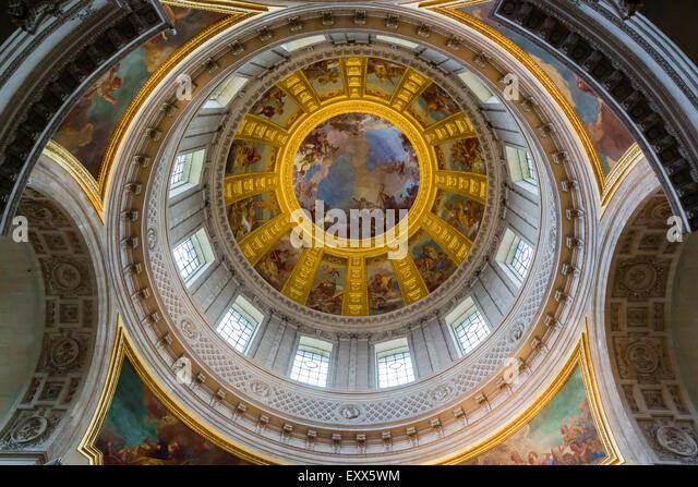 The Dome Church,Hotel Des  Invalides, Paris, France - Stock Image