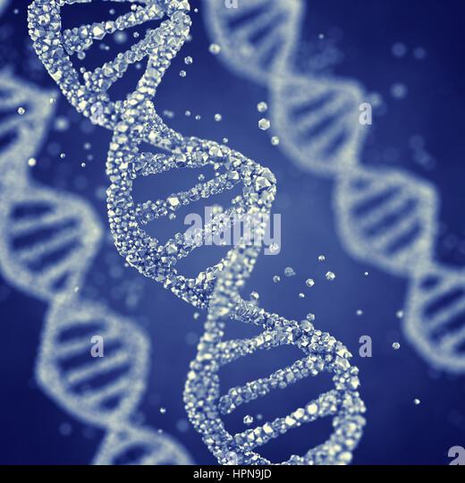 Dna helix , Gene mutation , Genetics - Stock Image