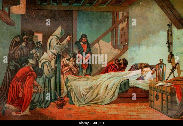 Death of Christopher Columbus - Stock-Bilder