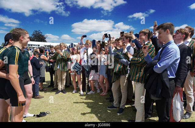 Henley, UK. 2nd July, 2017. Henley Royal Regatta on The River Thames at Henley, UK. 2nd July, 2017. Finals day Credit: - Stock Image
