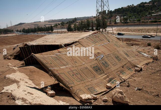 Bedouin tent village outside Amman, Jordan - Stock Image