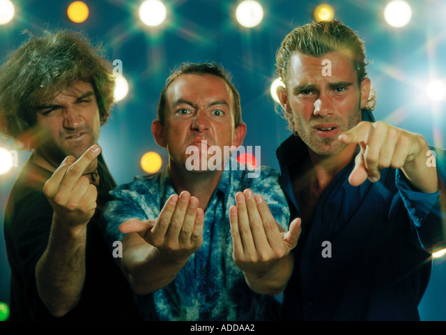 3 angry men - Stock Image