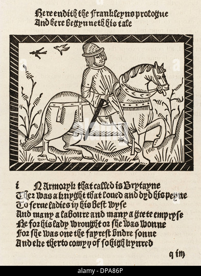 CHAUCER, THE FRANKLIN - Stock Image