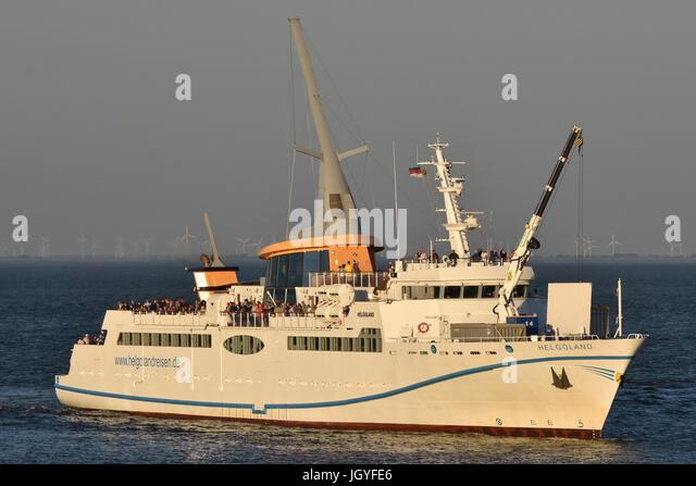 Helgoland inbound for Cuxhaven - Stock Image
