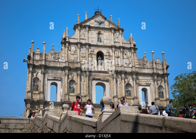 St Paul Ruins, Macau Icon - Stock Image