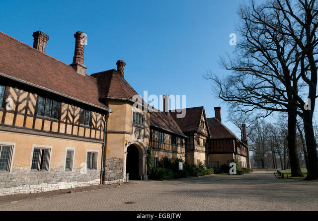 Schloss Cecilienhof Palace, Potsdam, where the Potsdam Conference was held in 1945 - Stock Image