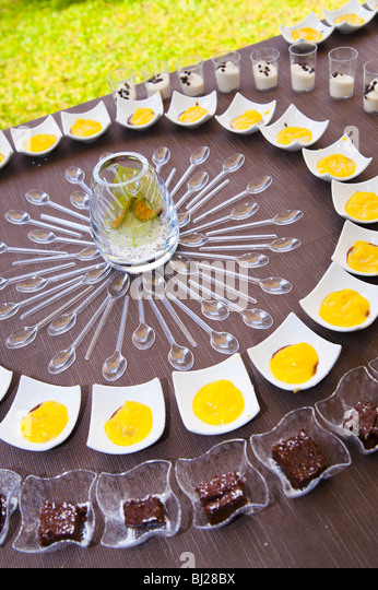 Fancy desserts - Stock Image