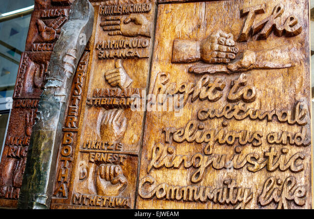 Johannesburg South Africa African Braamfontein Constitution Hill Museum Constitutional Court building entrance doors - Stock Image