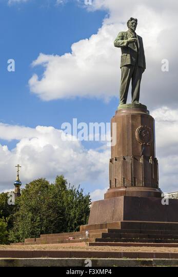 Kalinin Monument, Kaliningrad, Russia - Stock Image