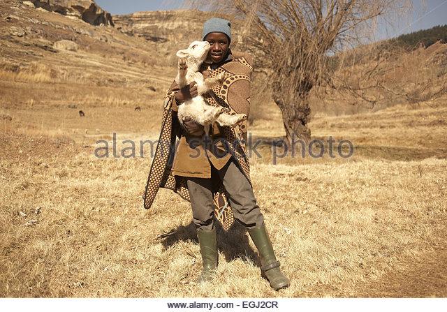 Africa, southern Africa, Lesotho, formerly Basutoland, province of Butha Buthe, Mafika Lisiu, Drakensberge, Maloti - Stock Image
