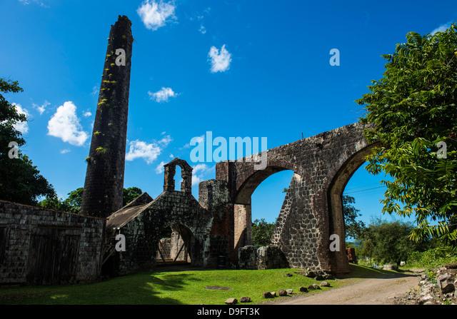 Ruins of an old mill, St. Kitt, St. Kitts and Nevis, Leeward Islands, West Indies, Caribbean - Stock-Bilder