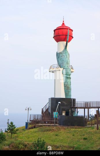Changpomal lighthouse, Sunrise Park, Yeongdeok, South Korea - Stock Image