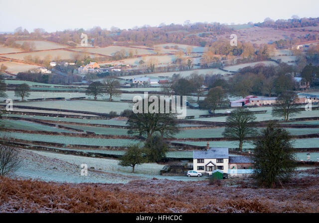 Flintshire, Wales, UK 2nd January 201, A very cold start to the year with many parts of the UK below freezing this - Stock Image