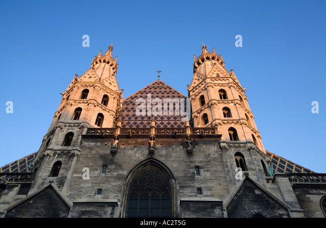 Vienna Stephansdom St Stephens gotic cathedral - Stock Image