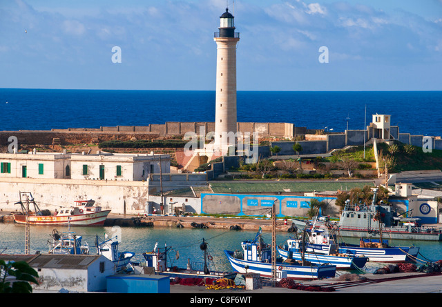The fishing habour of Cherchell, Algeria, North Africa - Stock Image