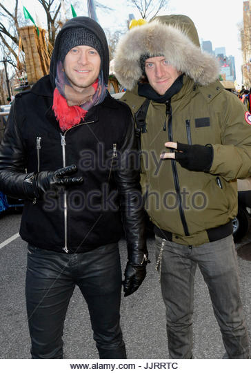 Florida George Line, Brian Kelley and Tyler Hubbard. 85th Annual Macy's Thanksgiving Day Parade in NYC. - Stock Image