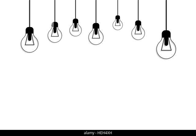 Glowing Yellow Light Bulb. Idea Concept. Idea concept background. Glowing light bulb as inspiration concept. Light - Stock-Bilder