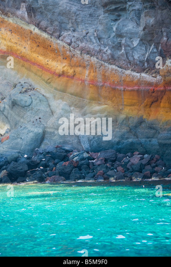 Rock formations on the coast of Pantelleria island, Sicily, Italy. - Stock Image