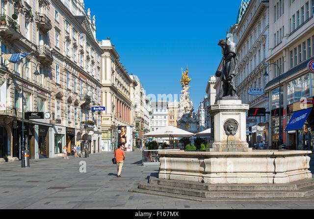 Graben Street, Vienna, Austria - Stock Image