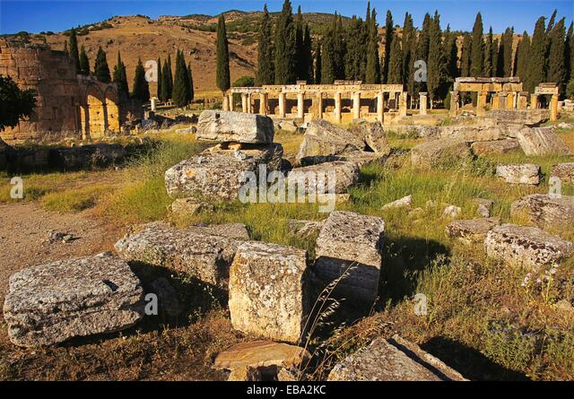2nd century adjacent Anatolia ancient antiquity archaeology architecture Asia bce city color image come to day die - Stock Image