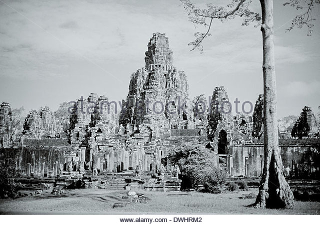 The Bayon, Siem Reap province, Cambodia, South East Asia. - Stock Image