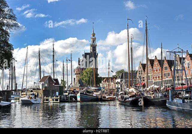 Old Harbor Port Hoorn ( Horn )  Main Tower 1532 Netherlands - Stock Image