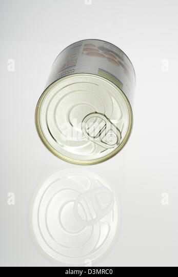 Can, Tin, Food, Metal, Isolated, Container, Blank, Groceries, Cylinder, Mystery, Textured, White, Airtight, Surprise, - Stock Image