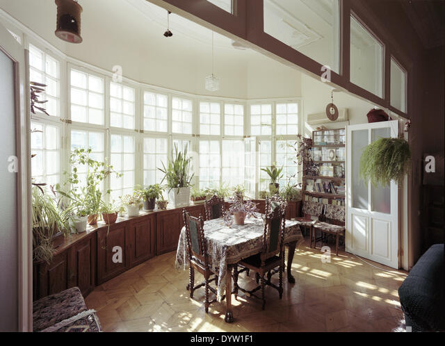 Interior of a Gruenderzeit (Founding Epoch) urban villa - Stock-Bilder