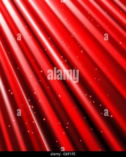 stars are falling on the background of red rays. - Stock-Bilder