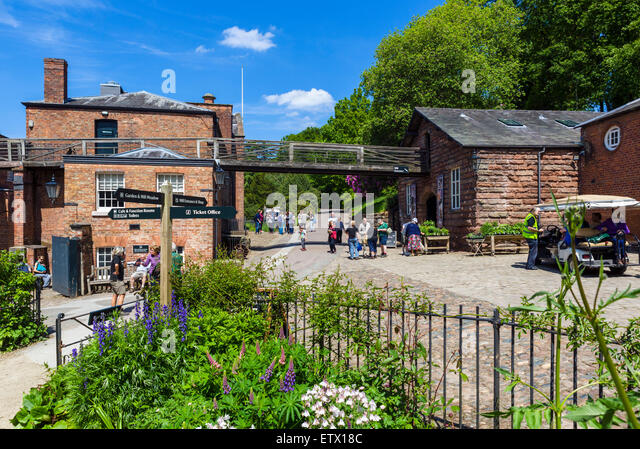 Quarry Bank Mill, a historic 18thC textile mill in Styal, Cheshire, England, UK - Stock Image