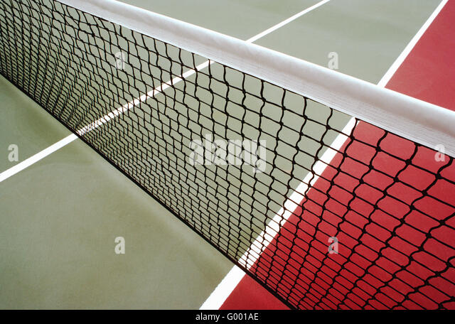 Close-up of tennis court & net - Stock Image