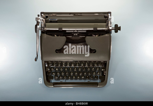 An old-fashioned typewriter - Stock Image