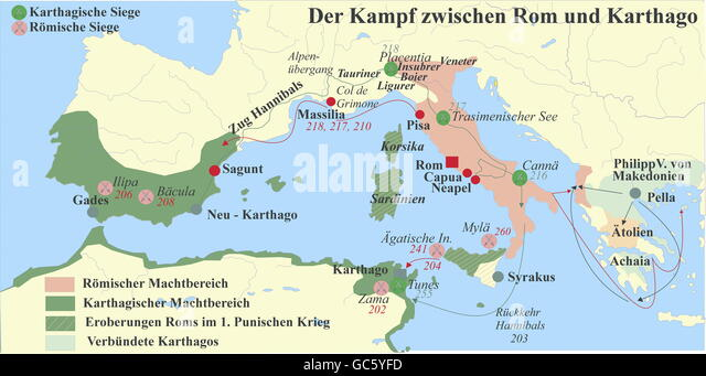 a history of the punic wars between rome and carthage Most sources for the history of the punic wars are either roman or greek   rome and carthage were this from the phyrric wars until the first punic war.