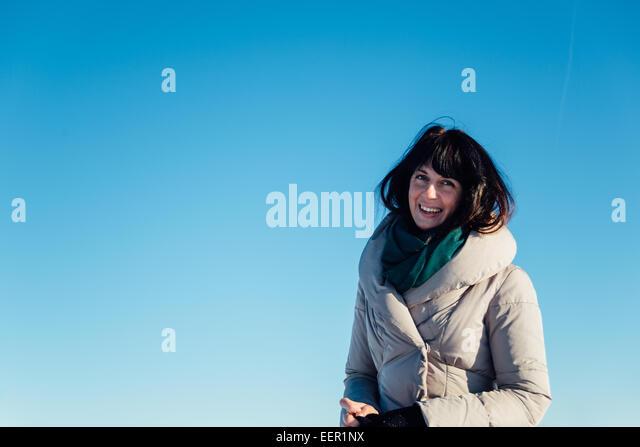 Beautiful brunette girl smiling - Stock-Bilder