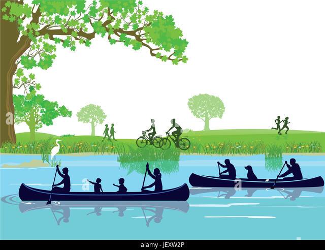 Canoeing Leisure - Stock Image