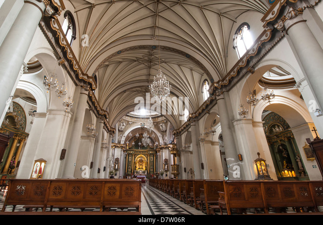 The Church of Santo Domingo, Lima, Peru, South America - Stock Image