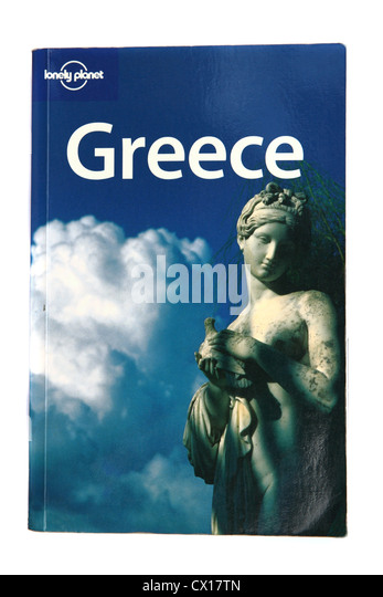 A Lonely Planet travel guide to Greece. - Stock-Bilder
