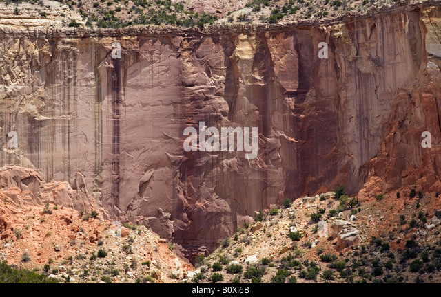 Rock face Chama River - Stock Image