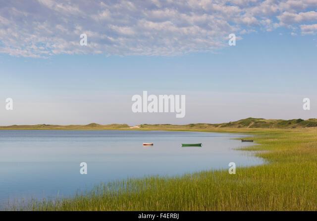 Massachusetts, Cape Cod, Wellfleet, view of The Gut by Great Island - Stock Image