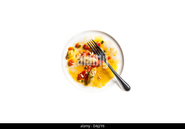 Eggplant Gnocchi with Fresh Tomato and Ricotta Salata - Stock Image