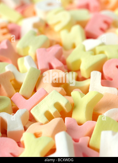 alphabet candy - Stock Image