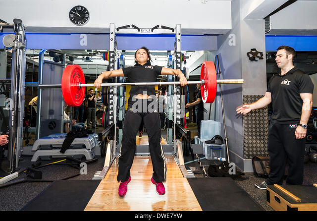 London, UK. Thursday 6th March. 2014:  Zoe Smith, English weightlifter and Olympian at the launch of the BodyPowerExpo - Stock Image