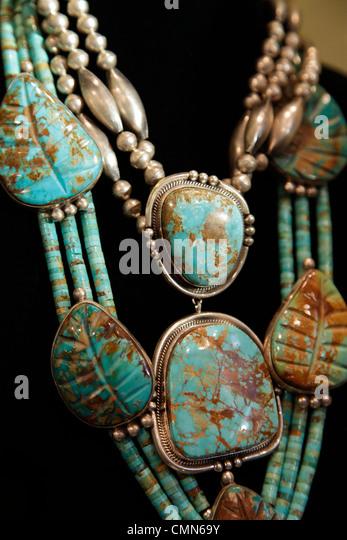 New mexico turquoise jewelry stock photos new mexico for Turquoise jewelry taos new mexico