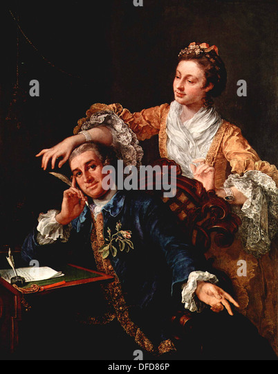 David Garrick, English actor and playwright, with His Wife - Stock Image