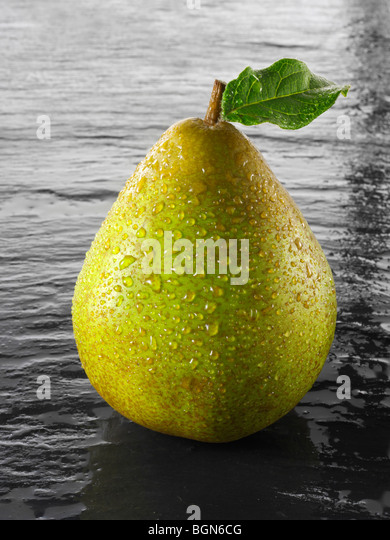 Fresh Coference pear - Stock Image