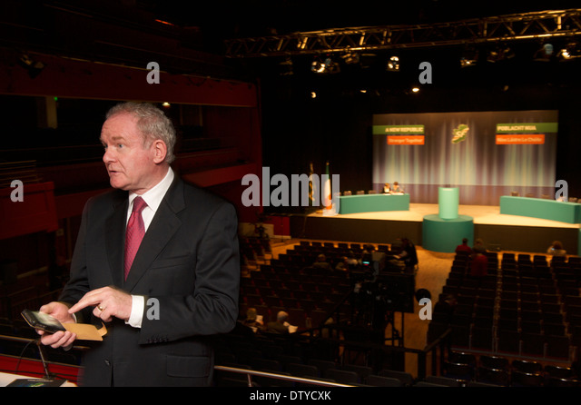 Martin McGuinness MLA, deputy First Minister of Northern Ireland at the Sinn Fein Ard Fheis in Castlebar, Co. Mayo. - Stock Image