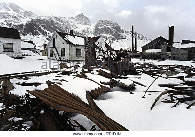 Grytviken South Georgia Island Antarctica Abandoned whaling station Grytviken South Georgia - Stock Image