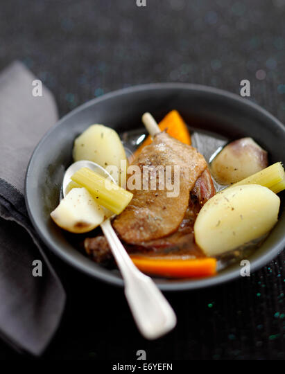 Duck confit stew - Stock Image