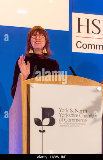 York, UK. 23rd March, 2017. Janet Street-Porter CBE, English celebrity, media personality, journalist and broadcaster, - Stock Image